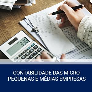 CONTABILIDADE DAS MICRO, PEQUENAS E MÉDIAS EMPRESAS