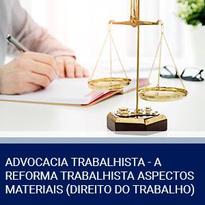 ADVOCACIA TRABALHISTA – A REFORMA TRABALHISTA ASPECTOS MATERIAIS (DIREITO DO TRABALHO)